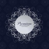 stijlvolle premium mandala frame floral achtergrond ontwerp