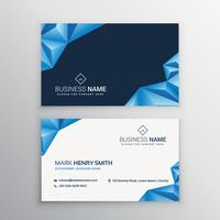 abstract 3d triangles business card