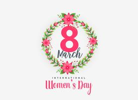 bonito 8 de março de fundo de dia feliz feminino