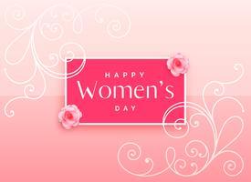Bonito diseño de feliz día de la mujer con decoración floral.