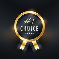 Nr. 1 Wahl Vektor Etiketten Design
