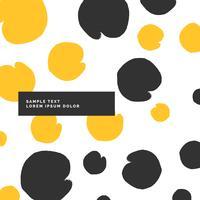 Patrón moderno con estilo en color amarillo y negro.