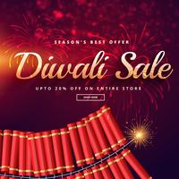 diwali sale with fireworks