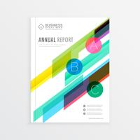 company brochure template design with colorful abstract shapes,