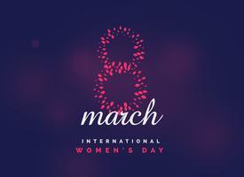 fundo internacional do vetor da celebração do dia das mulheres