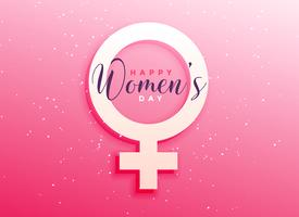 Fondo de saludo de celebración del día de la mujer.