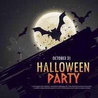 flying bats spooky hallowen background