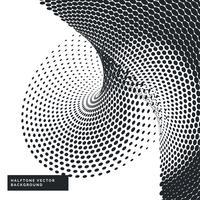 fundo preto e branco com pontos de meio-tom