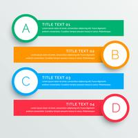 infographics steps banners template