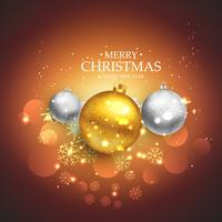 beautiful christmas festival background with golden and silver c