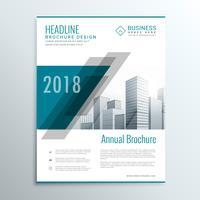 modelo de panfleto folheto abstrato azul para pres de negócios