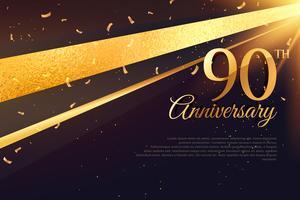 Modèle de carte de célébration du 90e anniversaire
