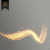 fundo de efeito de luz dourada transparente