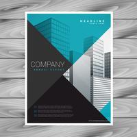 minimal blå professionell broschyr mall design
