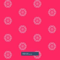 clean floral pattern in red background
