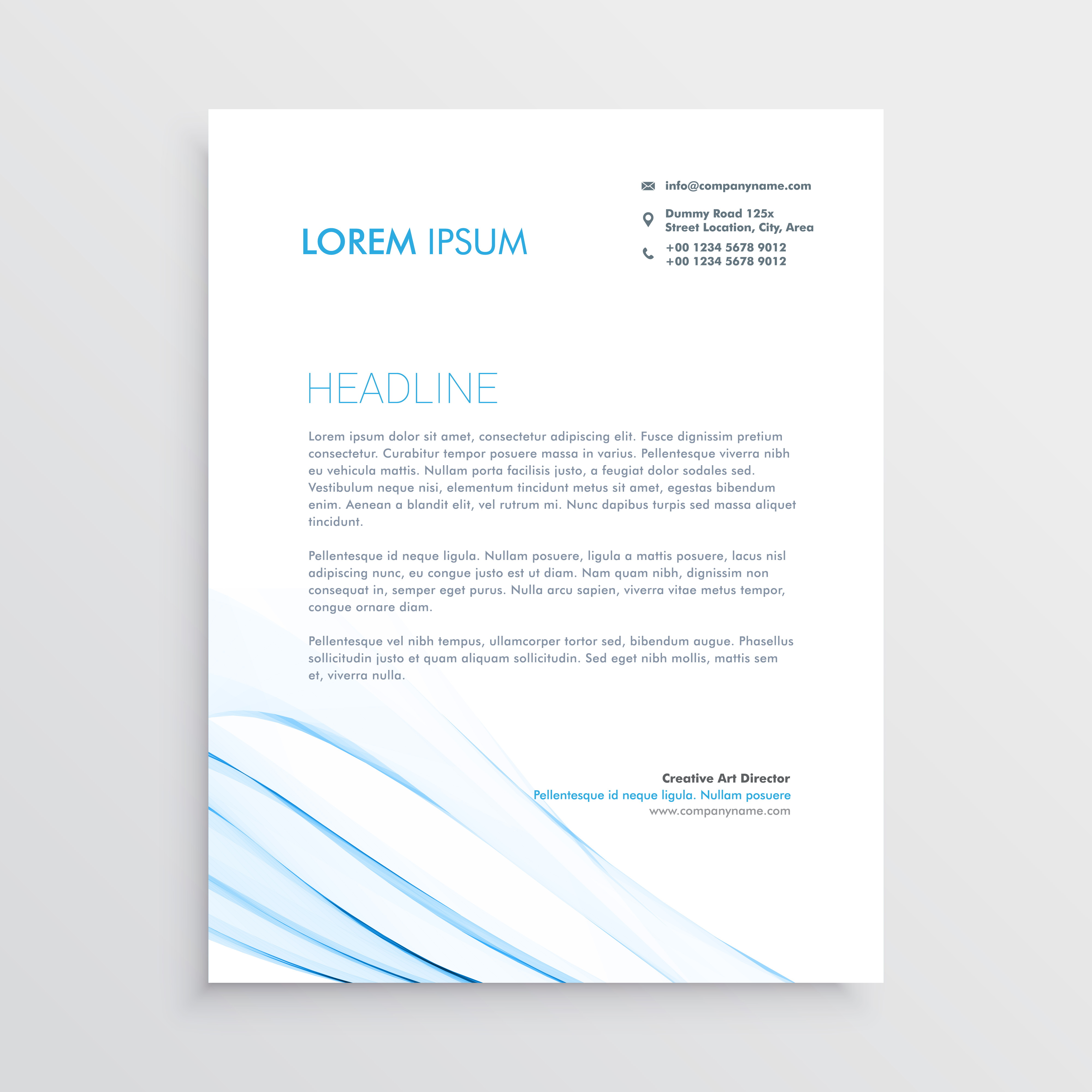 simple creative letterhead template design download free vector art stock graphics images