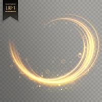 Goldener Lichteffekthintergrund des transparenten Strudels