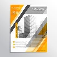 Plantilla de diseño de folleto de negocio abstracto amarillo y blanco para usted
