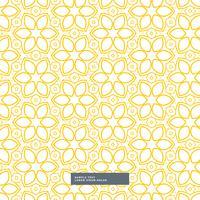 lindo patrón de flor amarilla sobre fondo blanco