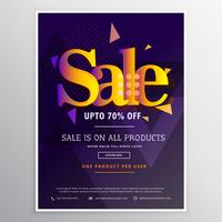 creative sale poster banner design template in abstract style