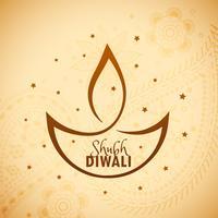 diwali diya artistique avec étoiles