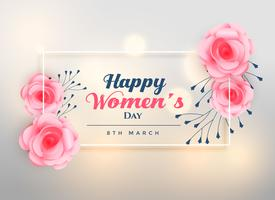 vacker kvinnodag härlig ros bakgrund
