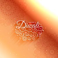 beautiful diwali decoration greeting card