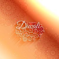 cartão bonito da decoração do diwali