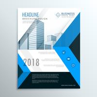 a4 blue annual report brochure flyer design template cover for b