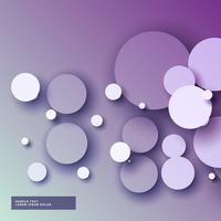 Increíble fondo púrpura con círculos abstractos 3d