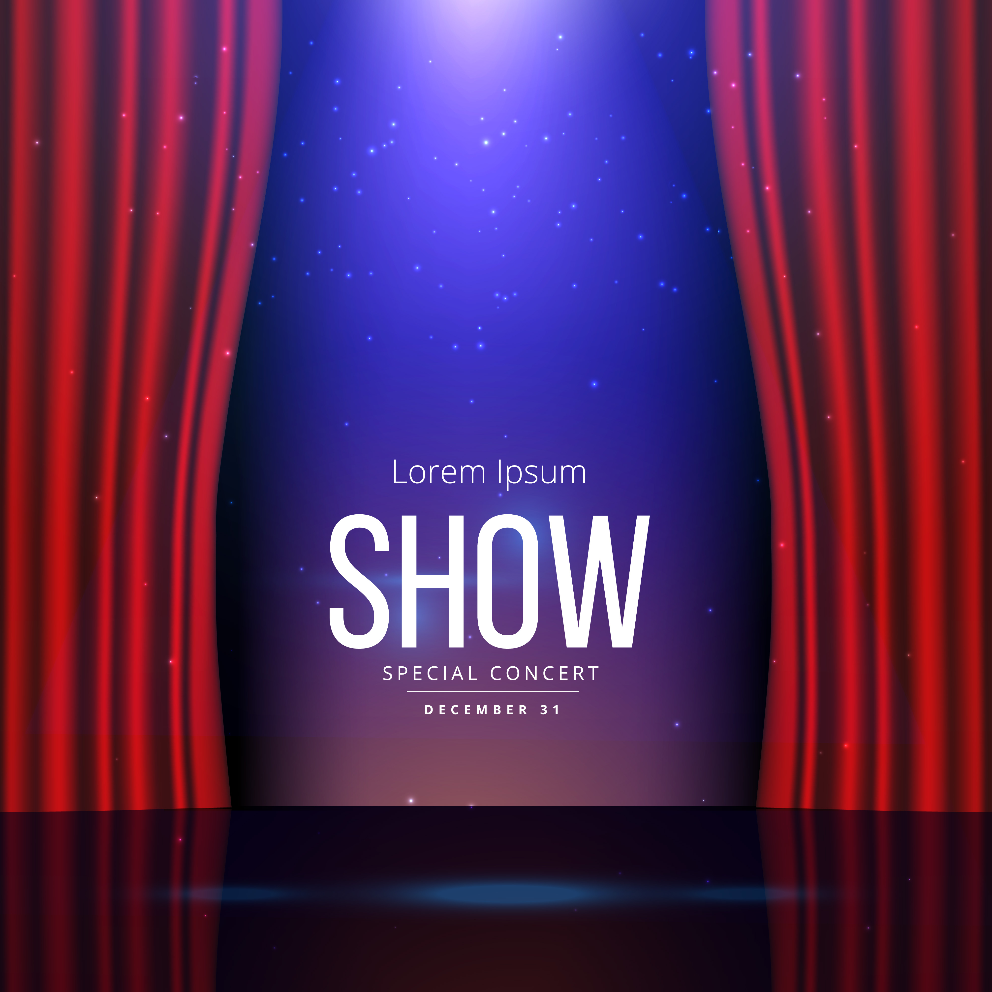 theater stage with open curtains - Download Free Vector Art, Stock ...