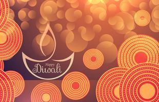Increíble fondo festival diwali con efecto bokeh y decorat