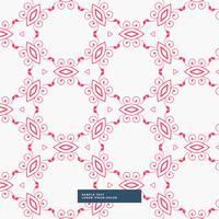 Fondo abstracto patrón floral rojo
