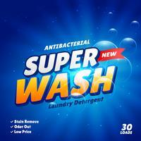 tvättmedel reklam koncept produktdesign mall