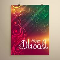 amazing indian happy diwali festival greeting flyer template wit