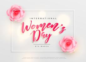 lovely happy women's day international celebration background