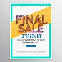 final sale discount voucher in horizonatal style