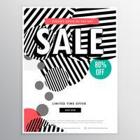 Plantilla de folleto de venta increíble con forma de líneas círculos abstractos