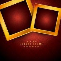 goldene Luxusrahmen auf rotem Weinlesehintergrund