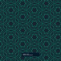 abstraktes grünes Sternformmuster auf blauem Hintergrund