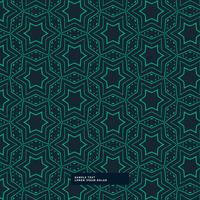 abstracte groene stervorm patroon op blauwe achtergrond