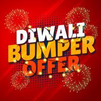diwali bumper aanbieding verkoop promotionele banner met hangende lichten