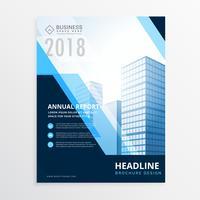 kreativ blå affärs broschyr design mall i storlek A4