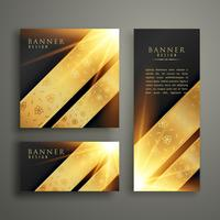 luxury invitation banner card template design