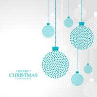 merry christmas hanging balls decoration background