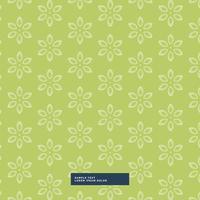 fundo verde teste padrão de flor