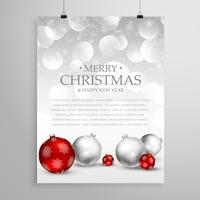 christmas flyer greeting card template for holiday season