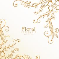 stilig härlig blommig dekorationsbakgrund