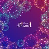 beau feu d'artifice du festival de diwali