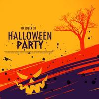 felice sfondo di celebrazione di halloween in stile grunge